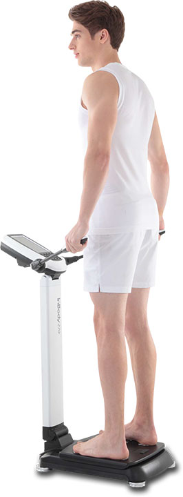Man on In Body Analysis Machine